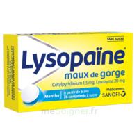 LysopaÏne Comprimés à Sucer Maux De Gorge Sans Sucre 2t/18 à GRENOBLE