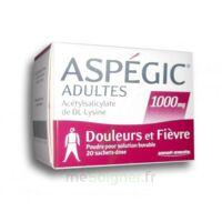 Aspegic Adultes 1000 Mg, Poudre Pour Solution Buvable En Sachet-dose 20 à GRENOBLE