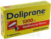 DOLIPRANE 1000 mg Suppositoires adulte 2Plq/4 (8) à GRENOBLE