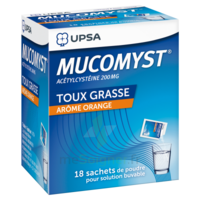 MUCOMYST 200 mg Poudre pour solution buvable en sachet B/18 à GRENOBLE
