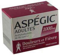 Aspegic Adultes 1000 Mg, Poudre Pour Solution Buvable En Sachet-dose 15 à GRENOBLE