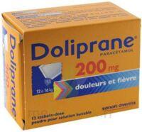 DOLIPRANE 200 mg Poudre pour solution buvable en sachet-dose B/12 à GRENOBLE