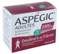 Aspegic Adultes 1000 Mg, Poudre Pour Solution Buvable En Sachet-dose 30 à GRENOBLE