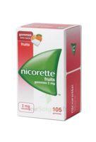 Nicorette 2 mg Gomme à mâcher médicamenteuse sans sucre fruits Plq/105 à GRENOBLE