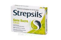STREPSILS CITRON SANS SUCRE, pastille édulcorée à l'isomalt, au maltitol et à la saccharine sodique à GRENOBLE