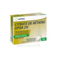 Citrate de Bétaïne UPSA 2 g Comprimés effervescents sans sucre menthe édulcoré à la saccharine sodique T/20 à GRENOBLE