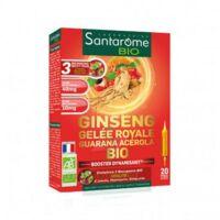 Santarome Bio Ginseng Gelée Royale Guarana Acérola Solution Buvable 20 Ampoules/10ml à GRENOBLE