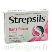 STREPSILS FRAISE SANS SUCRE, pastille édulcorée à l'isomalt, au maltitol et à la saccharine sodique à GRENOBLE