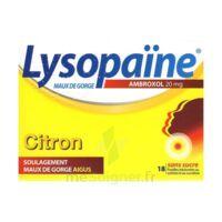 LysopaÏne Ambroxol 20 Mg Pastilles Maux De Gorge Sans Sucre Citron Plq/18 à GRENOBLE