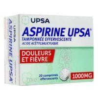 ASPIRINE UPSA TAMPONNEE EFFERVESCENTE 1000 mg, comprimé effervescent à GRENOBLE