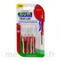 Gum Trav - Ler, 0,8 Mm, Manche Rouge , Blister 4 à GRENOBLE