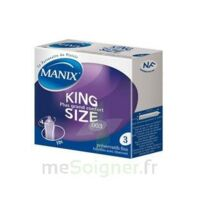 Manix King Size Préservatif avec réservoir lubrifié confort B/3 à GRENOBLE