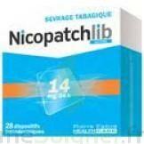 NICOPATCHLIB 14 mg/24 h Dispositifs transdermiques B/7 à GRENOBLE