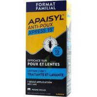 Apaisyl Anti-poux Xpress 15' Lotion Antipoux Et Lente 200ml+peigne à GRENOBLE