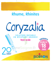 Boiron Coryzalia Solution buvable unidose B/20 à GRENOBLE